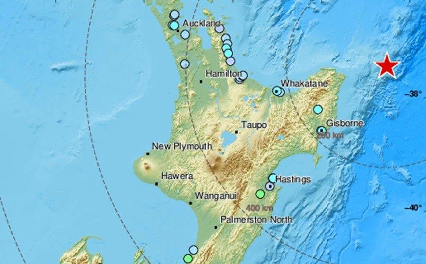 Σεισμός Νέα Ζηλανδία: Δείτε που ήταν το επίκεντρο της σεισμικής δόνησης
